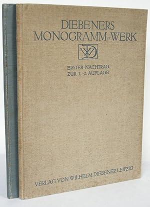 Monogramme und Dekorationen. Monogrammes et décorations. Monograms: DIEBENER, Wilhelm: