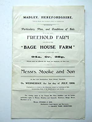 BAGE HOUSE FARM MADLEY HEREFORDSHIRE