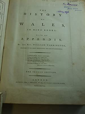 THE HISTORY OF WALES: Warrington, William