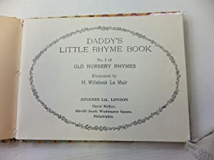 DADDY'S LITTLE RHYME BOOK