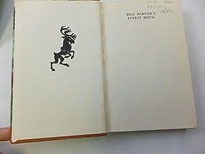 BILL BADGER'S FINEST HOUR: BB,