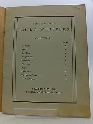 TEN SONGS FROM CHILD WHISPERS: Blyton, Enid & Twinn, Sydney