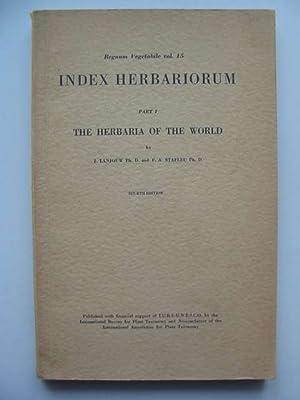 INDEX HERBARIORUM PART I THE HERBARIA OF: Lanjouw, J. &
