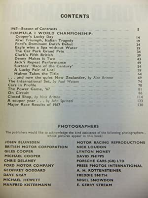 MOTOR RACING YEAR 1967-8: Nye, Doug & et al,