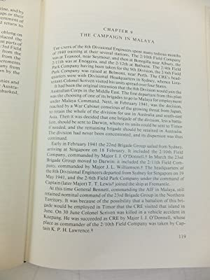 THE ROYAL AUSTRALIAN ENGINEERS 1919 TO 1945: McNicoll, Ronald