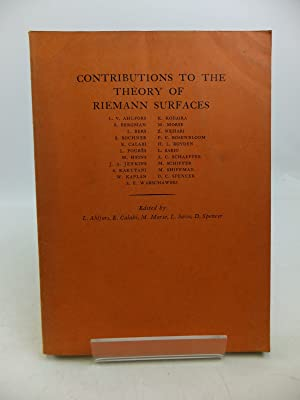 CONTRIBUTIONS TO THE THEORY OF RIEMANN SURFACES: Ahlfors, L.V. &