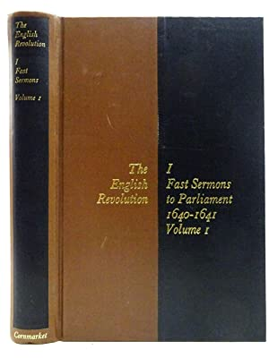 THE ENGLISH REVOLUTION I FAST SERMONS TO: Jeffs, Robin &