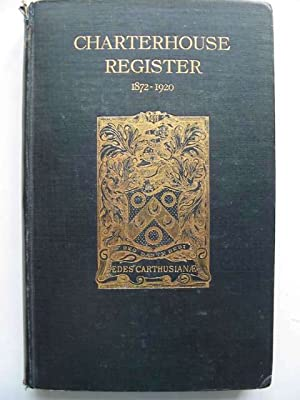 CHARTERHOUSE REGISTER 1911-1920 VOL III