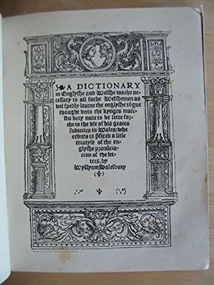 A DICTIONARY IN ENGLISH AND WELSH: Salesbury, William