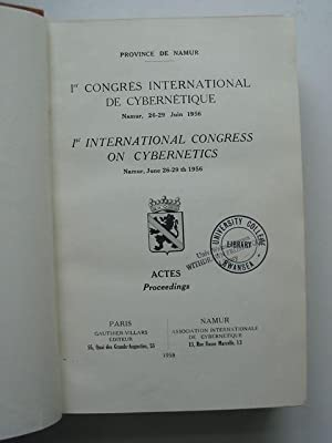1ST INTERNATIONAL CONGRESS ON CYBERNETICS