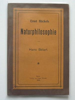 ERNST HACKELS NATURPHILOSOPHIE: Belart, Hans