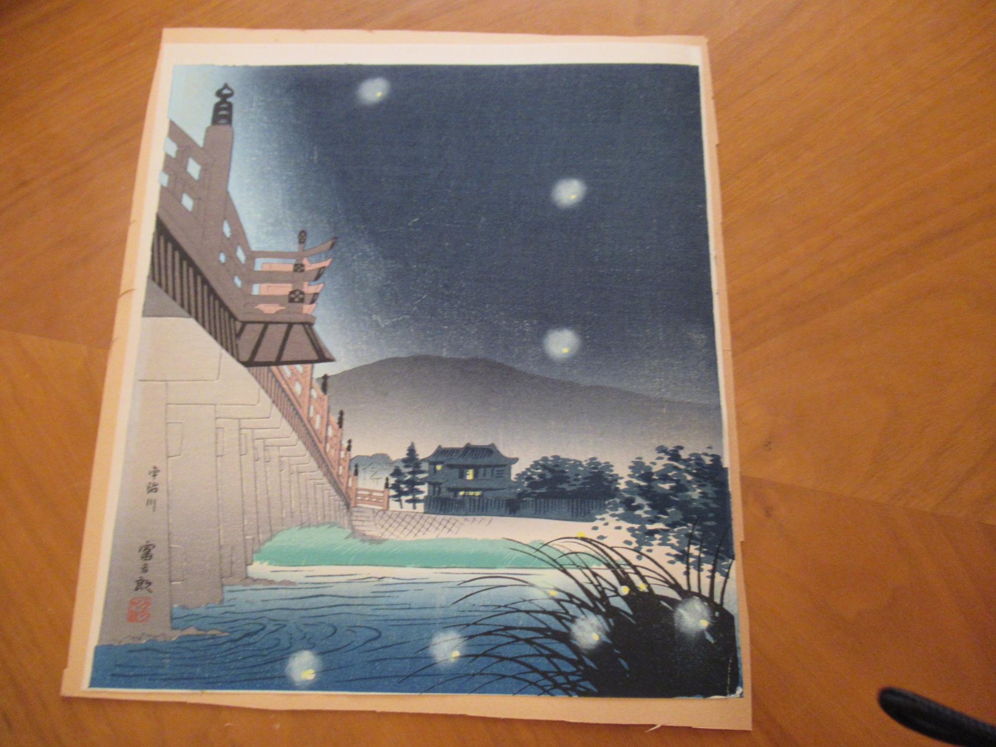 Japanese Scene (Original Color Print) Very Good