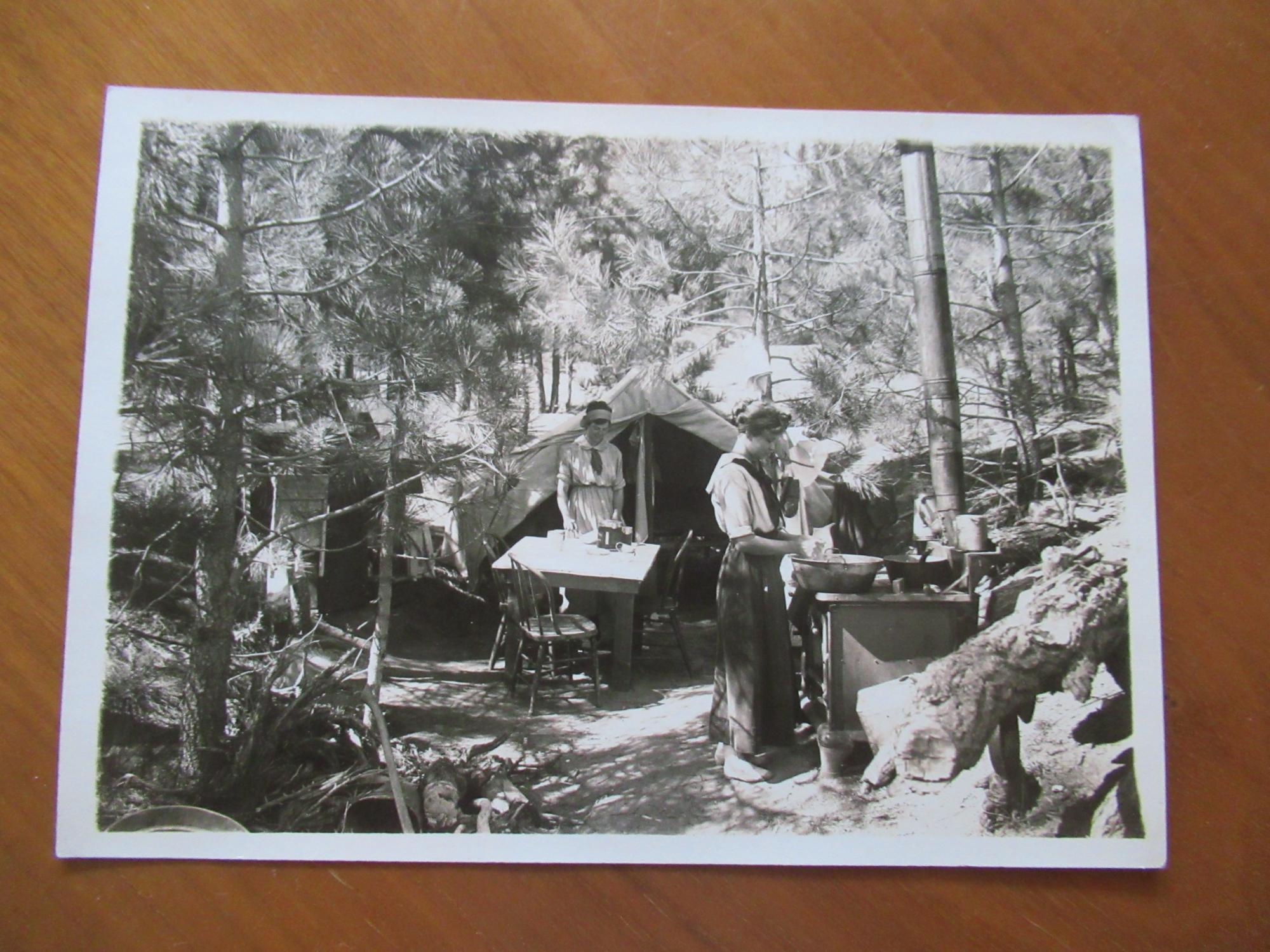 Original Photograph- Two Women In Their Forest Camp