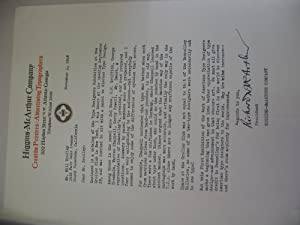 Letter from Higgins-McArthur Company to Will Bradley, Regarding Type Designers Exhibition at the ...
