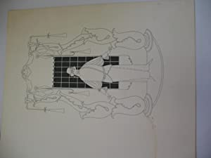 Original Ink Drawing By Will Bradley in Black Ink, Female Figure in Front of a Window