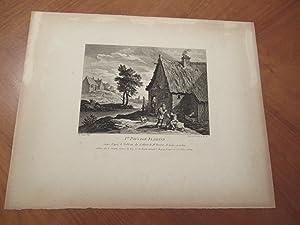 1er. Paysage Flamande, Grave Apres Le Tableau du Cabinet De Mr. Boscrit, De Meme Grandeur, By David...