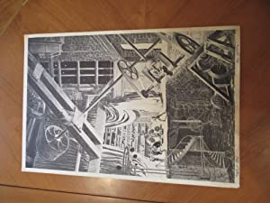Untitled Original Black And White Lithograph By Mike Kaluta