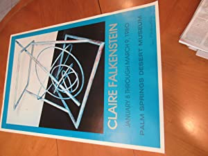 Original Exhibition Poster: Claire Falkenstein. January 8 Through March 9, 1980. Palm Springs Des...