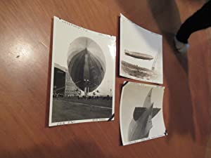 Three Original Sepia Photographs of U. S. S. Shenandoah (ZR-1) Airship 1923