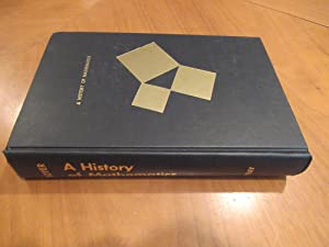 A History Of Mathematics (First Printing, Black Cloth, Gilt, Scarce)