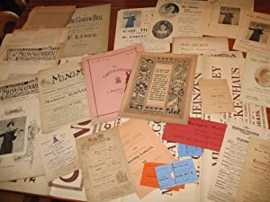 Carl Heinzen, Violinist: His Personal Archive Of Ephemera Relating To His Performances And Work