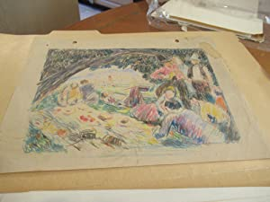 Small Archive Of Hundreds Of Sketches And Drawings By E Roscoe Shrader
