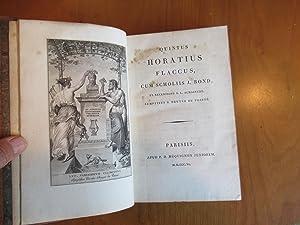 Quintus Horatius Flaccus (Horace) Cum Scholiis J.: Quintus Horatius Flaccus