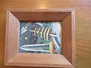 Small Framed Science Fiction Art Work, Oil On Board, From Office Of A E Van Vogt
