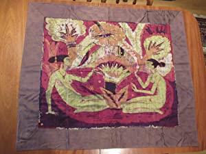 Original Large Modernist Batik Circa 1918-1925 By Herman Sachs