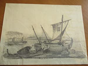 Boat On Beach (Original Drawing, 1756)