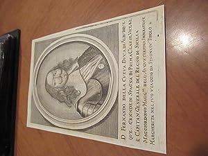 D. Fernando Della Cueva Duca Di Alburquerque: Original Engraving By