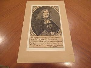 Daniel Ludwig ( Original Antique Engraving): Original Engraving By Johann Friedrich Rosbach (?)