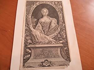 Maria Teresa Q. Of Hungary Born May: Original Engraving By