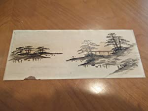 Japanese (?) View: Original Painting On Card