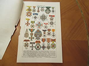 Orders Ii (Original Chromolithograph From Chambers Encyclopedia)