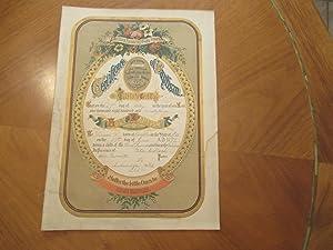 Certificate Of Baptism [Original Engraving, Gilt]