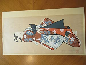 Original Japanese Color Woodblock, Standing Figure