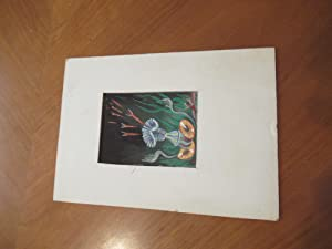 (Science Fiction Art) Original Painting Of Triffids, As Described In