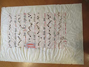 Antique Sheet Of Music On Vellum