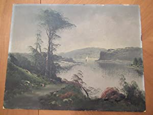 Untitled ( Large Original Antique Oil Painting On Board))