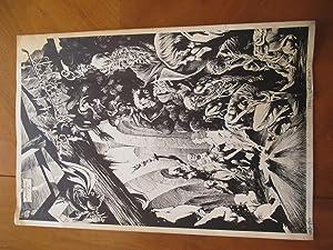 Science Fiction Art) Original Black And White: Wrightson, Bernie [Berni]