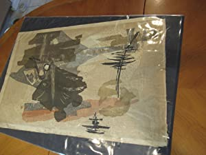 Nostalgia At Kyoto ( Large Original Abstract Lithograph)