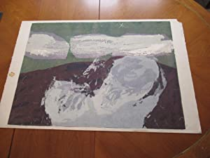 As Smoke Is Blown Off (Serigraph By Sister Mary Corita)