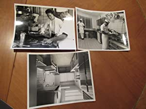 Three Original Nasa B/W Photographs Of Cape Canaveral Astronaut Quarters Chef Louis Harsell And H...