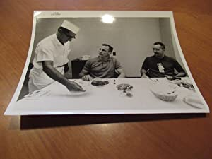 Original Nasa B/W Photograph Of Cape Canaveral Astronaut Quarters Chef Louis Harsell Serving The ...