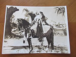 Original Photograph- Rudolph Valentino, Mounted On His Horse, In