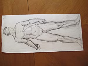 Original Drawing: School Study Of Male Figure