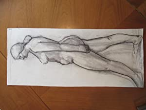 Original Drawing: German Expressionist School Study Of Female Figure