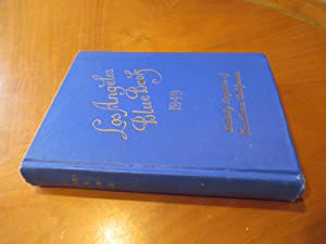 Los Angeles Blue Book 1949 Society Register Of Southern California, A Society Directory.