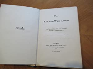 The Kempton-Wace Letters (First Issue, Signed By Jack London)